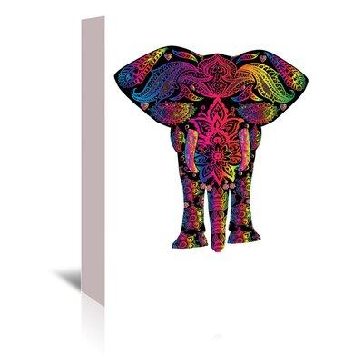 Americanflat Wonderful Dream Decor Elephant Animal Colourful Graphic Art Wrapped on Canvas