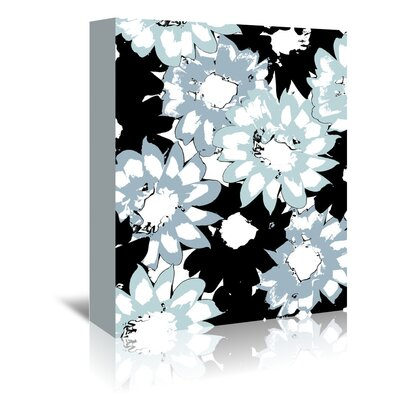 Americanflat 'Gazania Silhouette Blue' by Chris Purcell Graphic Art Wrapped on Canvas