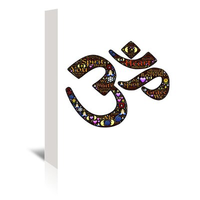 Americanflat Wonderful Dream Namaste Indian Greetings Graphic Art Wrapped on Canvas