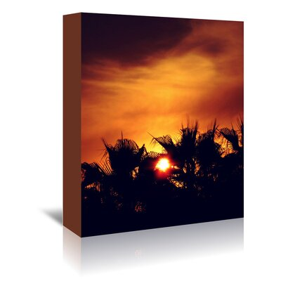 Americanflat Wonderful Dream Wonderful Colourful Sunset Photographic Print Wrapped on Canvas