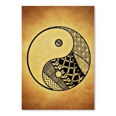 Americanflat Wonderful Dream Yin and Yang Symbol Yoga Graphic Art