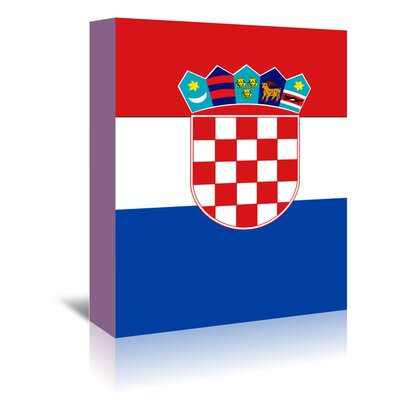 Americanflat Wonderful Dream Croatia Flag Graphic Art Wrapped on Canvas