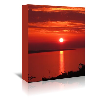 Americanflat Wonderful Dream Sunset Sunrise Holiday Photographic Print Wrapped on Canvas