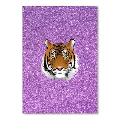 Americanflat Wonderful Dream Tiger Cat with Purple Glitter Graphic Art