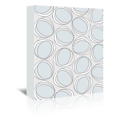 Americanflat 'Poppy Petals Circles' by Chris Purcell Graphic Art Wrapped on Canvas