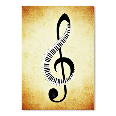 Americanflat Wonderful Dream Clef Music Graphic Art