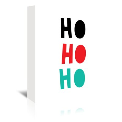 Americanflat 'Ho Ho Ho Christmas' by Ashlee Rae Typography Wrapped on Canvas