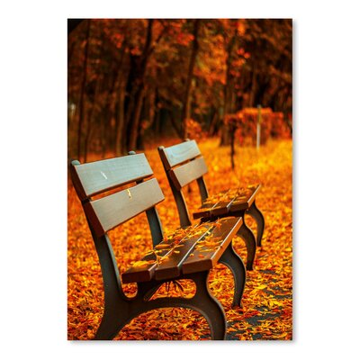 Americanflat Wonderful Dream Autumn with Bank Landscape Photographic Print
