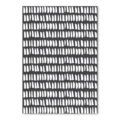 Americanflat 'Gazania Dash Charcoal' by Chris Purcell Graphic Art
