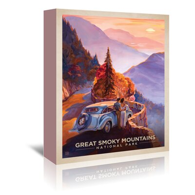 Americanflat 'Great Smoky Mountains' by Anderson Design Group Vintage Advertisement Wrapped on Canvas