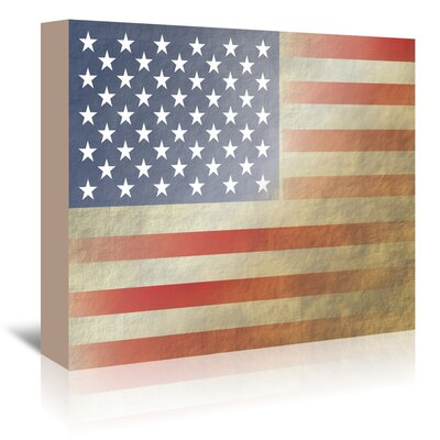 Americanflat 'Flag 3' by Americanflat-ky Graphic Art Wrapped on Canvas