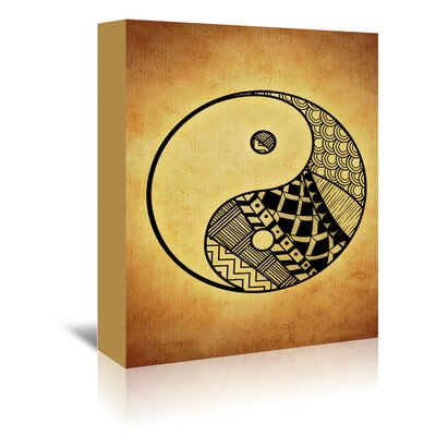 Americanflat Wonderful Dream Yin and Yang Symbol Yoga Graphic Art Wrapped on Canvas