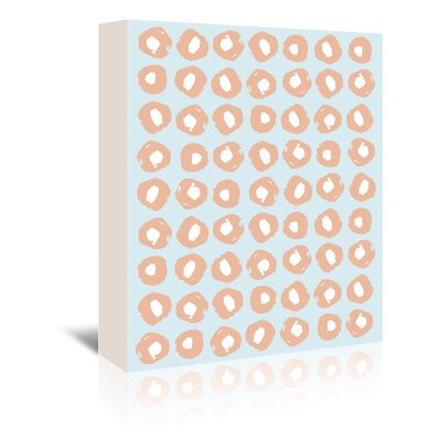 Americanflat 'Gnarly Stumps Dots Salmon' by Chris Purcell Graphic Art Wrapped on Canvas