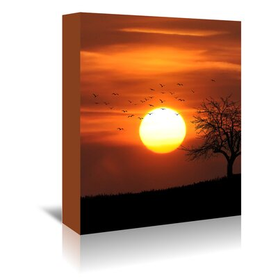 Americanflat Wonderful Dream Wonderful Holiday Sunset Photographic Print Wrapped on Canvas