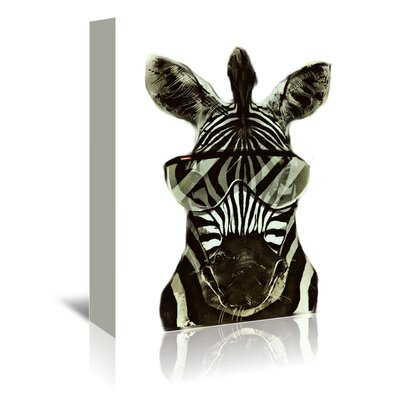 Americanflat Wonderful Dream Hipster Zebra Africa Graphic Art Wrapped on Canvas