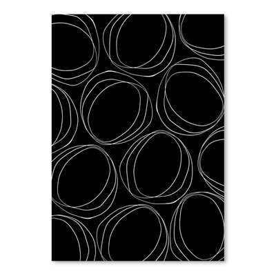 Americanflat 'Poppy Petals Large Circles Black' by Chris Purcell Graphic Art