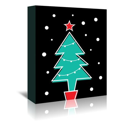 Americanflat 'Christmas Tree' by Ashlee Rae Graphic Art Wrapped on Canvas
