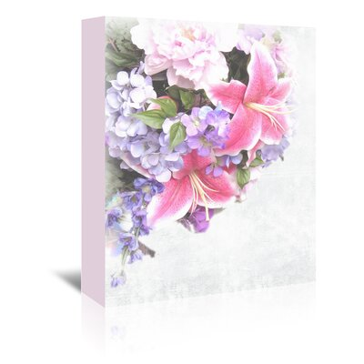 Americanflat Wonderful Dream Vintage Lily Flower Graphic Art Wrapped on Canvas