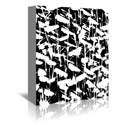 Americanflat 'Gazania Silhouette Splatter Black' by Chris Purcell Graphic Art Wrapped on Canvas