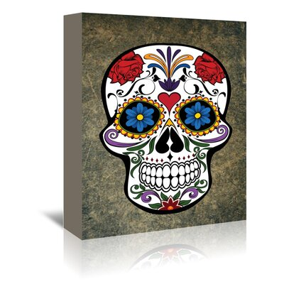 Americanflat Wonderful Dream Gothic Skull Horror Style Graphic Art Wrapped on Canvas