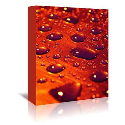 Americanflat Wonderful Dream Water Drops Colour Photographic Print Wrapped on Canvas