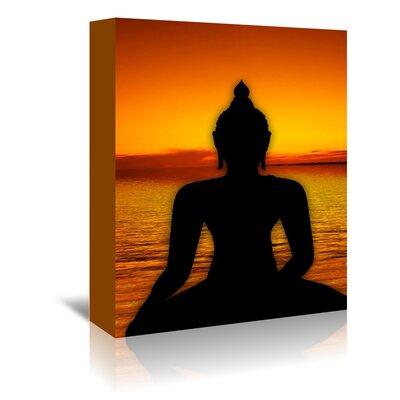 Americanflat Wonderful Dream Yoga Buddha Symbol Sunset Graphic Art Wrapped on Canvas