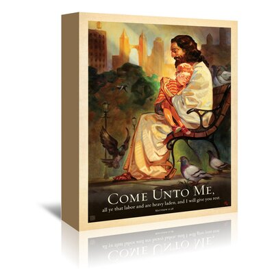 Americanflat 'Jesus Come Unto Me' by Anderson Design Group Graphic Art Wrapped on Canvas