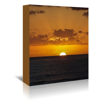 Americanflat Wonderful Dream Wonderful Sunset Holiday Ocean Photographic Print Wrapped on Canvas