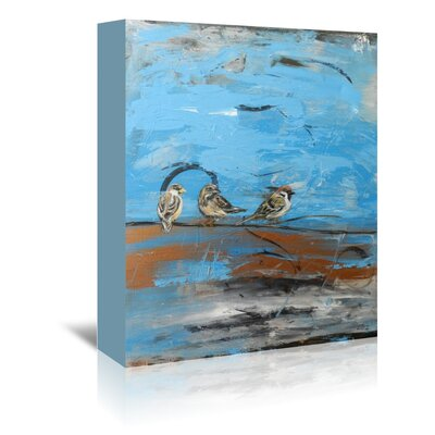 Americanflat 'Three Birds' by Laura D Zajac Art Print Wrapped on Canvas