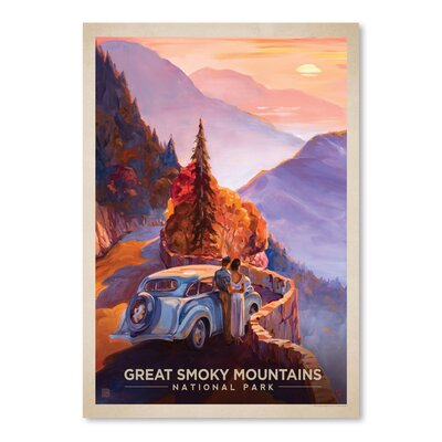 Americanflat 'Great Smoky Mountains' by Anderson Design Group Vintage advertisement