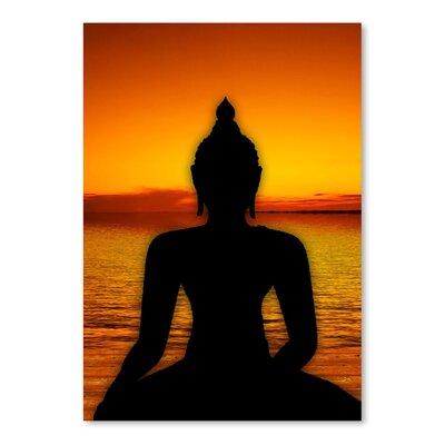 Americanflat Wonderful Dream Yoga Buddha Symbol Sunset Graphic Art
