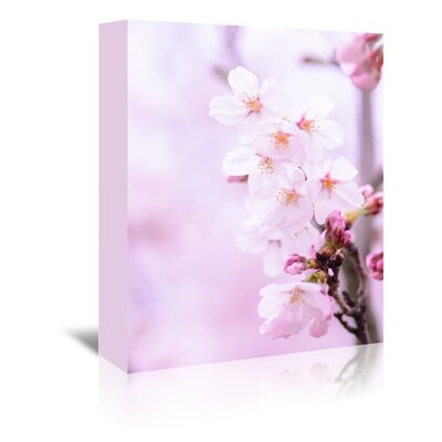 Americanflat Wonderful Dream Cherry Blossom Japan Photographic Print Wrapped on Canvas