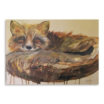 Americanflat 'Drip Fox' by Laura D Zajac Art Print
