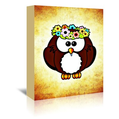 Americanflat Wonderful Dream Funny Owl Bird Graphic Art Wrapped on Canvas