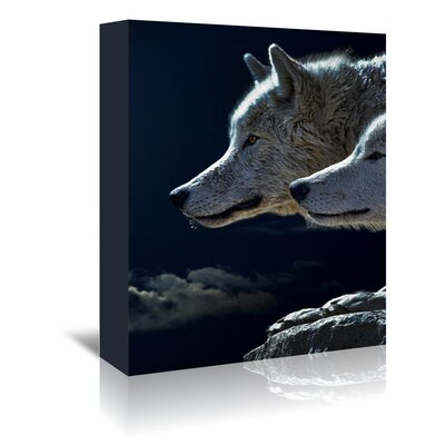 Americanflat Wonderful Dream Fantasy Animal Wolf Wolves Photographic Print Wrapped on Canvas