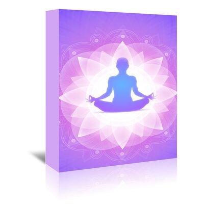 Americanflat Wonderful Dream Purple Yoga Faith Meditation Graphic Art Wrapped on Canvas