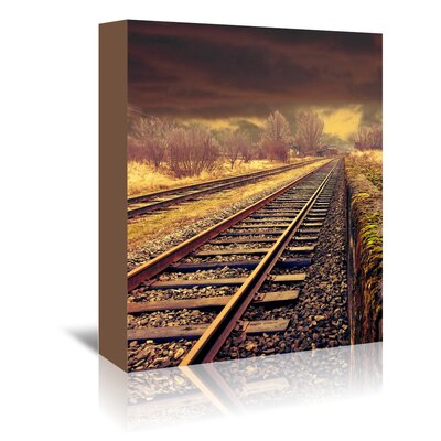 Americanflat Wonderful Dream Railway Travel Nature Photographic Print Wrapped on Canvas