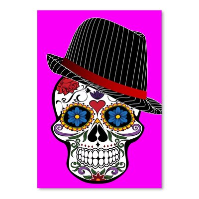Americanflat Wonderful Dream Hipster Skull Pink Style Graphic Art