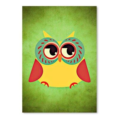 Americanflat Wonderful Dream Abstract Owl Modern Bird Graphic Art