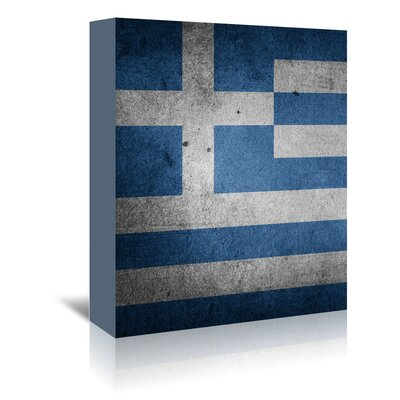 Americanflat Wonderful Dream Greece Flag Graphic Art Wrapped on Canvas