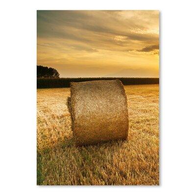 Americanflat Wonderful Dream Hay Landscape Sun Nature Photographic Print