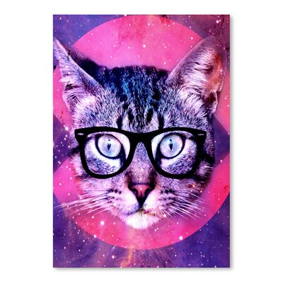 Americanflat Wonderful Dream Hipster Cat with Glasses Graphic Art