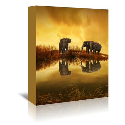Americanflat Wonderful Dream Fantasy Elephant Nature Summer Photographic Print Wrapped on Canvas