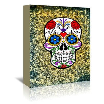 Americanflat Wonderful Dream Modern and Trendy Horror Skull Graphic Art Wrapped on Canvas