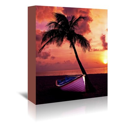 Americanflat Wonderful Dream Holiday Travel Beach Photographic Print Wrapped on Canvas