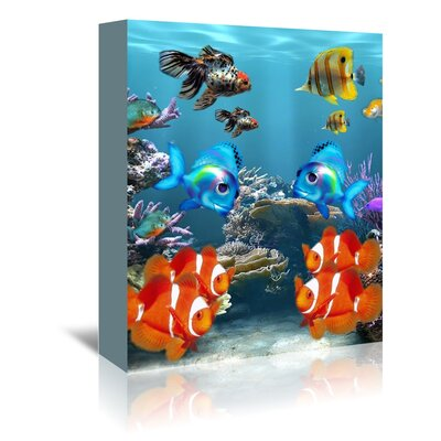 Americanflat Wonderful Dream Aquarium Fish Style Graphic Art Wrapped on Canvas