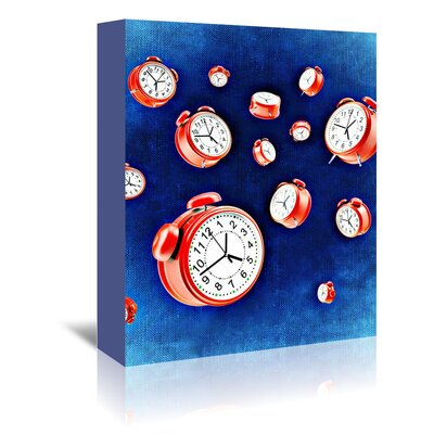 Americanflat Wonderful Dream Design of Clock Time Graphic Art Wrapped on Canvas