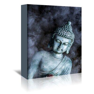 Americanflat Wonderful Dream Buddha with Smoke Symbol Graphic Art Wrapped on Canvas