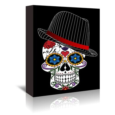 Americanflat Wonderful Dream Hipster Horror Skull Halloween Graphic Art Wrapped on Canvas