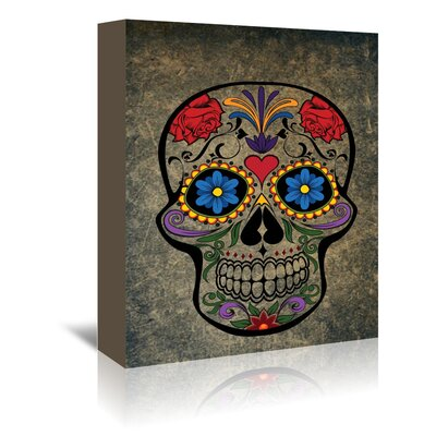 Americanflat Wonderful Dream Floral Horror Skull Gothic Graphic Art Wrapped on Canvas